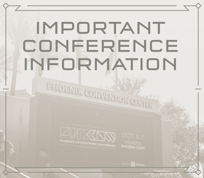 Important Conference Information